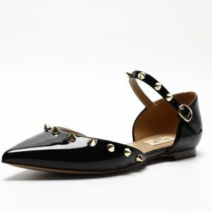 Kaitlyn Pan Shoes - NWT Kaitlyn Pan Spiky Pointed Toe D'Orsay Flats